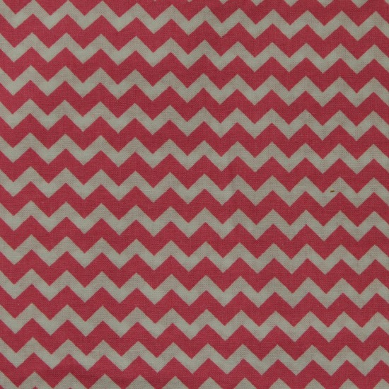 Masque de protection artisanal - Chevron rouge